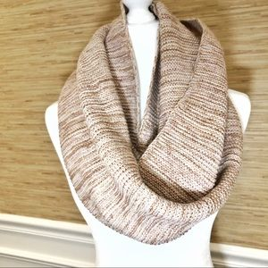Modena light pink knit infinity scarf